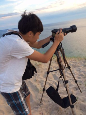 SNAPSHOT. Tsao stops to take a photo on his trip to Sleeping Bear Dunes, located in Michigan. Tsao was trying to capture the beautiful sunset. When traveling, Tsao enjoys capturing photos of what he sees along the way. Photos courtesy of Herrick Tsao.