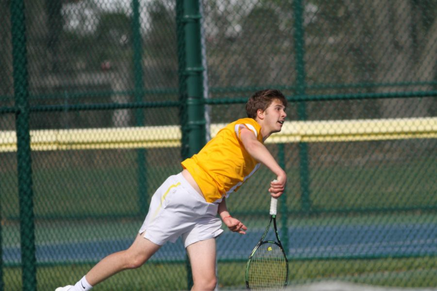 LET'S GO. Junior Alex Karev will advance to state alongside junior Jacob Wittenbaum.  Last year, Varsity Gold won the Coaches' Classic Tournament. The team is hoping for another big win as the individuals advance on to state.