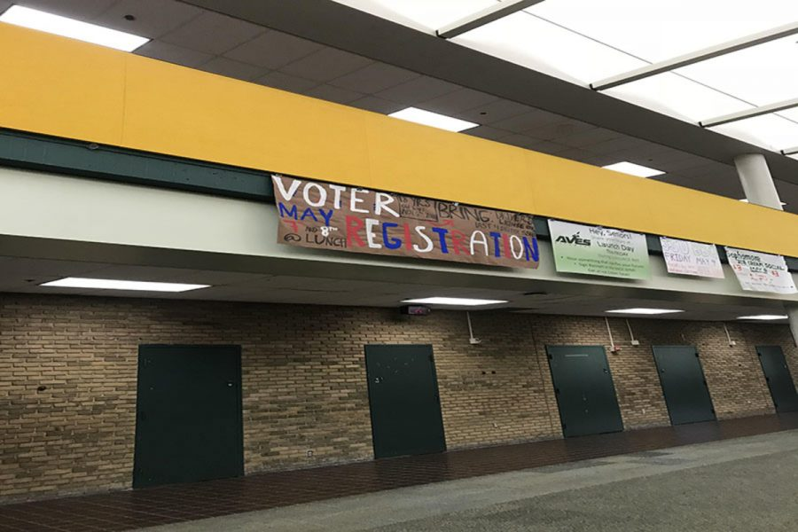 VOTING AGE UP FOR DEBATE. Some SHS students are able to vote their senior year. These students are able to register to vote. Registration is taking place during lunch on May 7 and 8.