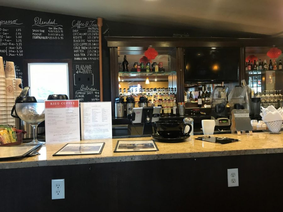Coffee fanatic drinks in city
