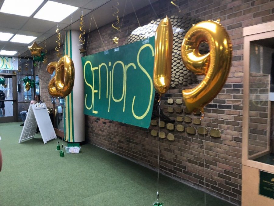 WELCOME+BACK.+On+August+16%2C+all+students+were+welcomed+back+to+school.+The+PTO+had+various+decorations+set+up+in+the+front+office+to+welcome+students+back+and+to+celebrate+the+seniors.+%22The+Leaf%22+staff+hopes+you+have+a+great+year%21+