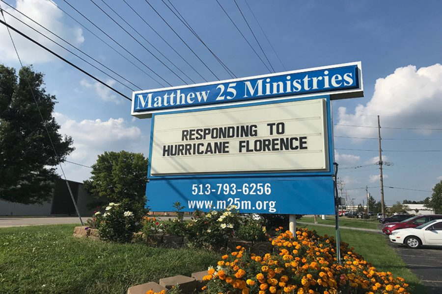 """HURRICANE. The East Coast has been devastated by Hurricane Florence. Matthew 25: Ministries is trying to bring awareness for the drivers on Kenwood road. """"Our thoughts and prayers are with those who may be impacted by this storm,"""