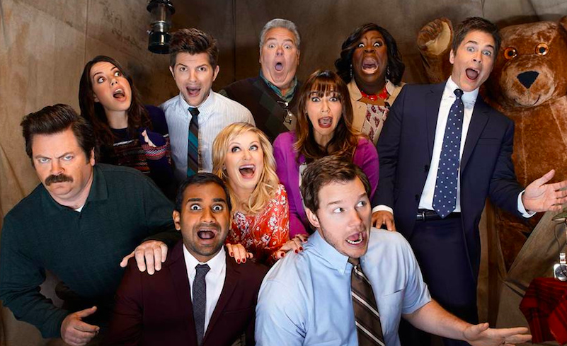 """SMILE. The actors become their characters for a photo during the shooting of the finale episode of season 3 of """"Parks and Recreation."""" This photo was used as the season image and was briefly the image for the series on Netflix. The TV show aired for seven seasons, with the sixth ending in a large cliffhanger that had everyone waiting for the seventh and final season. """"I know we [the whole """"Parks and Rec"""" cast] would all do [a reunion],"""" said Amy Poehler to Ellen DeGeneres."""