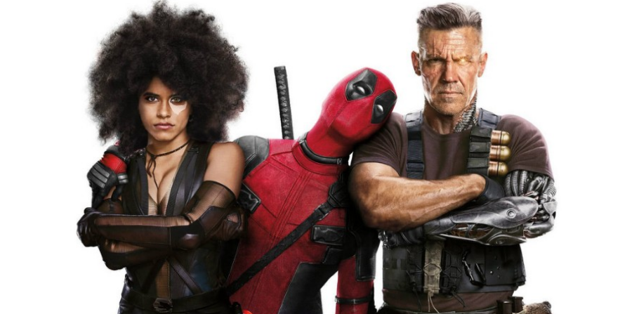 """MERC WITH THE MOUTH. Deadpool (Ryan Reynolds) poses with X-Force members Domino (Zazie Beats) and Cable (Josh Brolin) in a promo image for 'Deadpool 2'. The film, which released in May of this year and is currently the highest-grossing R-rated movie of this year.  Some fans of the character are very against the idea of the comic book character getting the PG-13 treatment. """"You can't have the Merc with the Mouth without him being [R-rated],"""" said Andrew Schmid, 12."""