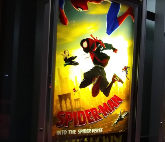 LEAP+OF+FAITH.+%E2%80%9CSpider-Man%3A+Into+the+Spider-Verse%E2%80%9D+released+on+Dec.+14%2C+2018%2C+to+universal+acclaim+from+critics+and+audiences+alike.+The+film+also+garnered+the+award+for+Best+Animated+Film+at+the+2019+Golden+Globe+awards%2C+and+according+to+Collider%E2%80%99s+Matt+Goldberg%2C+for+good+reason.+%E2%80%9C%E2%80%98Spider-Verse%E2%80%99+shows+why+Spider-Man+is+such+a+special+character%2C%E2%80%9D+Goldberg+said.