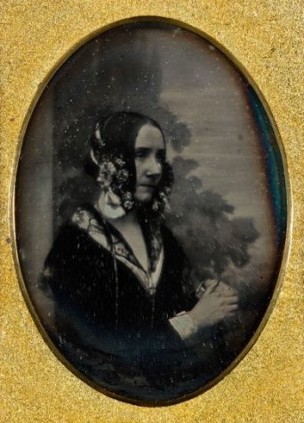 LADY LOVELACE. The only known photograph of Ada Lovelace is this daguerreotype, believed to have been taken by Antoine Claudet in 1843. The daguerreotype was the first photographic process that found commercial success. Daguerreotypes were very expensive unique images printed on metal plates.