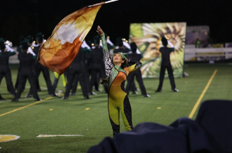 "SMILE. Marching band is a fun activity that is open to all SHS students. Even if one does not play a band instrument they still have the opportunity to join through color guard. The new theme this year is ""New Skins"""