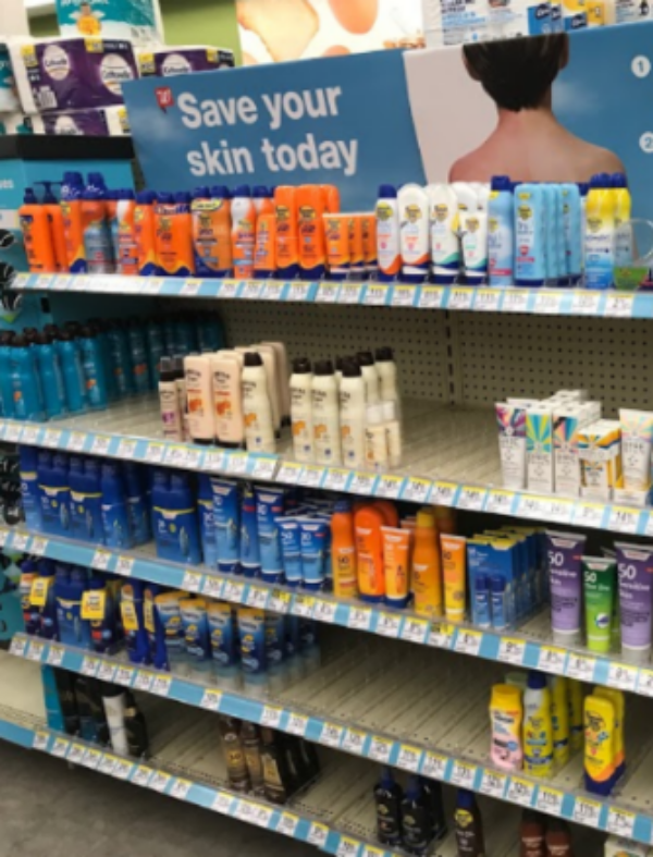 """SUNBURN. Since summer is approaching, there are entire sections in stores dedicated to sunscreen. """"However, sunscreens have not been subjected to standard drug safety testing, and clinicians and consumers lack data on systemic drug levels despite decades of widespread use,"""
