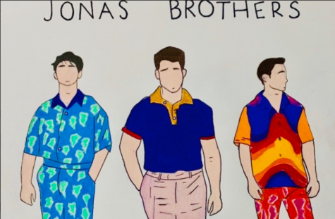 """HAPPINESS BEGINS. The Jonas Brothers' new album is everything that fans could have dreamed for; the trio has finally found their own genre of music, and are soaring to great heights. Highlights of the album include songs like """"Don't throw it Away"""" and """"Cool,"""" which provide hidden messages and morals that are heavily applicable to today"""