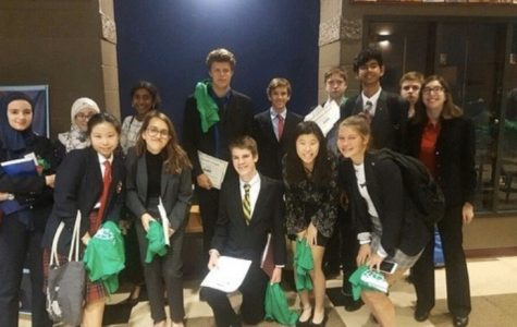 MUN. Model UN students attend their first conference of the year, at Wyoming High School. According to freshman Emma Chi, the experience was