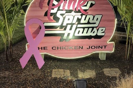 THINKING PINK. For the month of October, Silver Spring House, a local restaurant in Symmes Township, decked out in pink from head to toe in honor of Breast Cancer Awareness month. From the building itself to napkins, each part of the restaurant got its chance to shine in the pink spotlight.