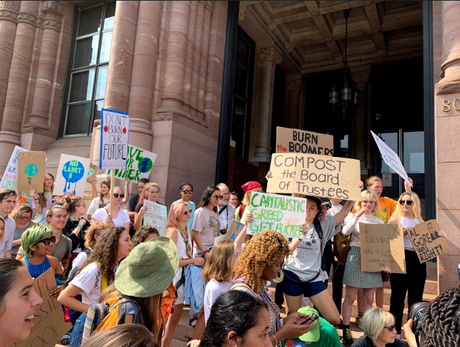 CLIMATE STRIKE. On Nov. 20, there was a Climate Strike held at Cincinnati City Hall.