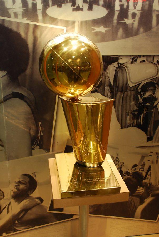 The Larry O'Brien NBA Championship Trophy.