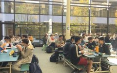 "CAFETERIA CROWDS. In the SHS lunch room, you're probably not going to find designated tables for the jocks, goody goodies, and the popular kids like in many teen movies. Instead, the lines are blurred as students have mainly become more accepting of other students' differences. This acceptance of others is ""what makes for a good atmosphere at school,"" said Andrew Sulfsted, 12."