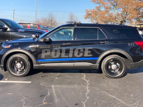 BLUE ASH POLICE are going modern. They paired up with Sycamore Schools to design a new cop car. Out of about 20 participants, Abi Patel's design won and will be featured on a news Blue Ash Police Department SUV.