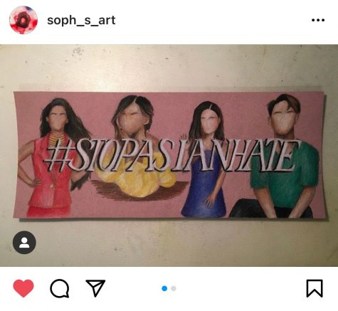 After the Atlanta-area shootings, Junior Sophie Leong posted a drawing she made featuring Asians she looks up to (above) to help spread awareness on hate crimes and encourage people to share their stories.