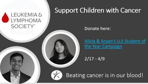 MAKING AN IMPACT. Seniors Aryan Vaidya and Alicia Luo are participating in the Students of the Year fundraising campaign to support the efforts of the Leukemia & Lymphoma Society. You can donate to their cause by checking out the story!