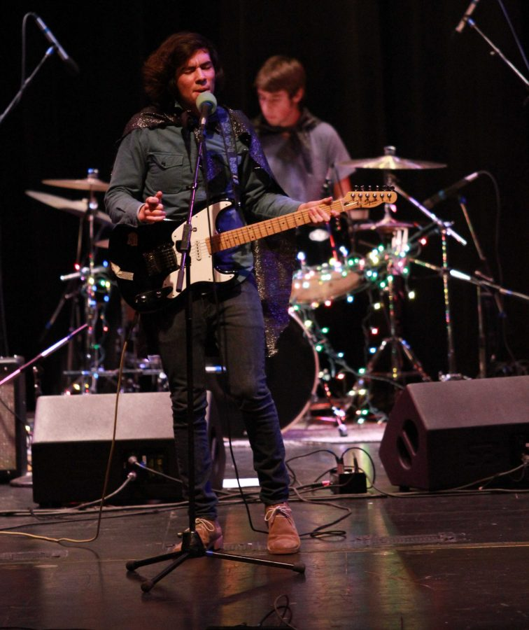 """Jackson Hughes, 12 of the band """"Bright Eyed Youth"""" sings in last year's Battle of the Bands. This band has been a fan favorite of the event. Battle will take place on Dec. 13.  Photo courtesy of McDaniel's photography."""