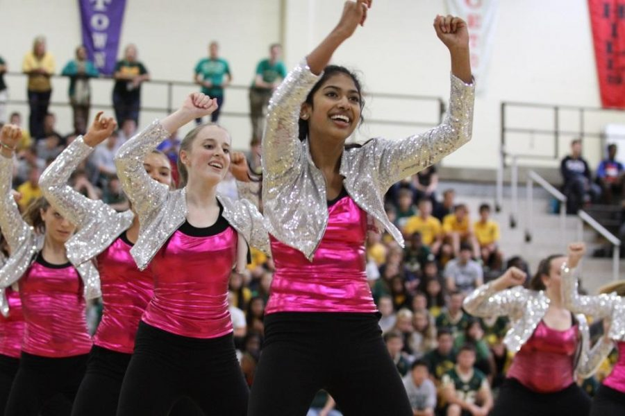 The team danced at the UC game and Aviator Madness this past week. The Flyerettes have many performances coming up. They will be working hard to make sure everything is perfect for the next basketball home game. Photo courtesy of McDaniel's Photography