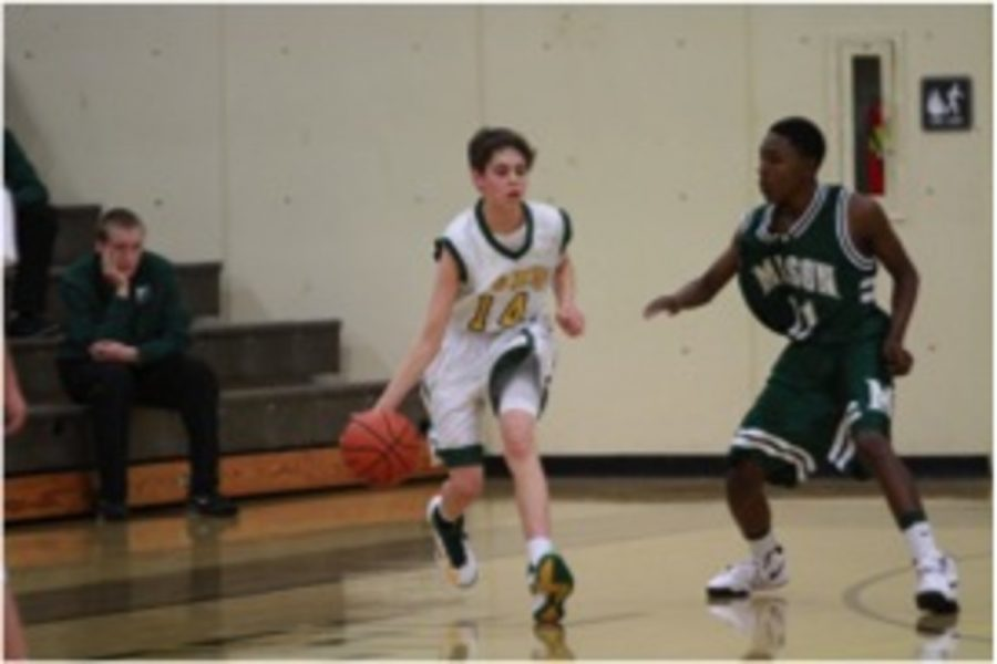 Joseph Mattis, 10 made the jump from the Freshman Basketball team to JV. He hopes to help push the team in the right direction after last year's losing season. The team will open at home against Milford on Sat. Nov 30 against Milford High School. Photo courtesy of McDaniel's Photography.