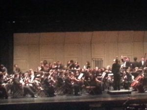 Playing to their fullest. The Sycamore high School orchestra anxiously awaits their performance. Admission  to the event is free.