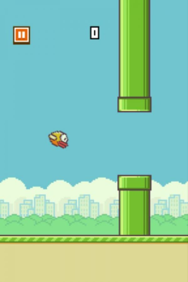 Flappy Bird is the latest app phenomenon to take over student's free time at SHS. The objective is to help Flappy the Bird avoid the green pipes and fly to safety. The game sits at number one downloaded in the App Store, and can serve as a pick up and play game. Photo by Alex Wittenbaum.