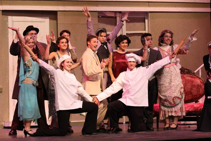 """The cast hits their final pose for the opening number, """"Fancy Dress."""""""