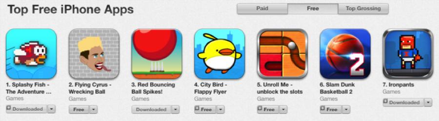 Flappy Bird knockoffs take over App Store