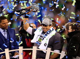 Russell Wilson won his first Super Bowl with the Seahawks in his second season in the NFL. He threw for 206 yards and two touchdowns in the 43-8 win and he out dueled Payton Manning, one of the game's greatest players in route to the title. Photo Credit: Josh Patterson