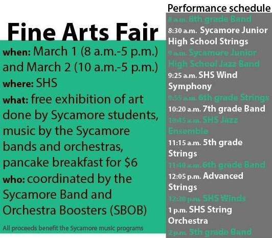 Fine Arts Fair Schedule