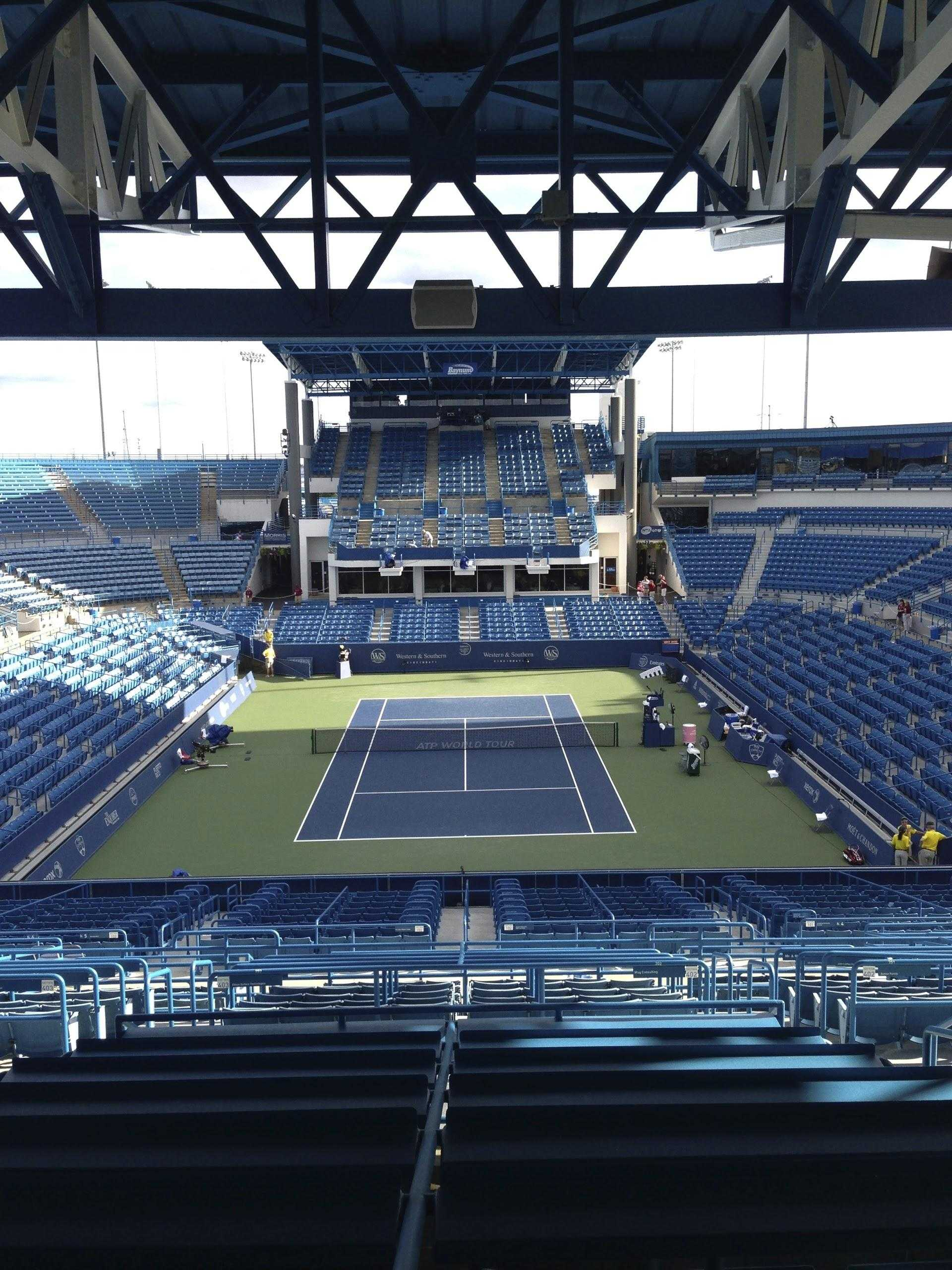 (IMAGE BY JACK LOON) This is center court at the Lidner family tennis center. Here is where the biggest matches of the tournament take place, and where the best of the best play. This year, tryouts will be held here, and many of the tennis players will get to play on this famous court.