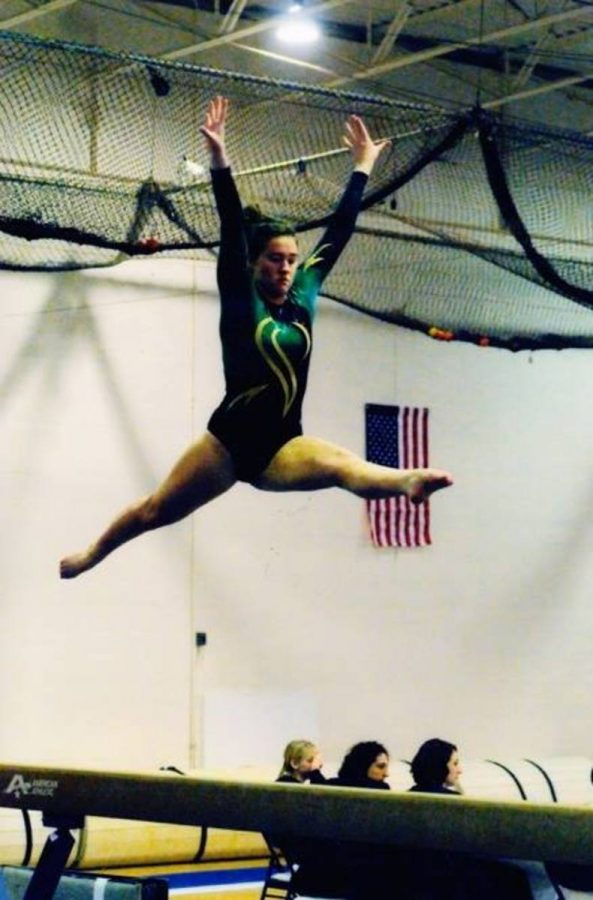 Form is critical in gymnastics. Participating in gymnastics since preschool, Gearin has nearly perfected her form.