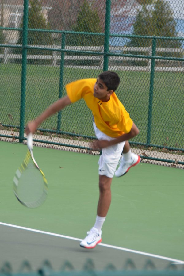 The serve is a strong weapon for Indrakanti, who plays first singles.