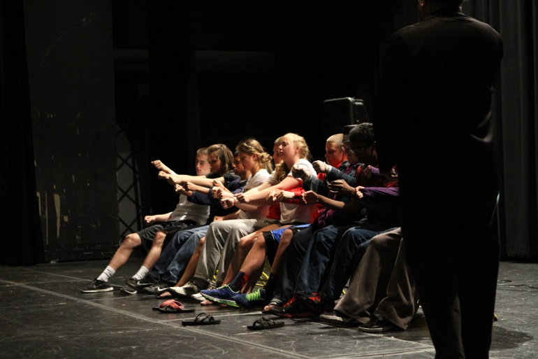 After Prom is an annual event that provides a safe way for students to celebrate once Prom is over. The hypnotist is shown here. He has come for the past couple of years and has been a hit.  Photo courtesy of McDaniel's Photography