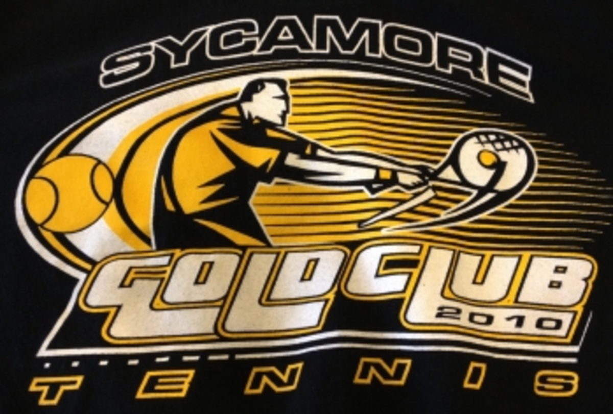 Sycamore tennis players do Gold Club each year to show the tennis coaches how much they play. Gold Club is a large decider on who makes the team. It is very important that the players do it. (Photo Courtesy of Alex Wittenbaum)