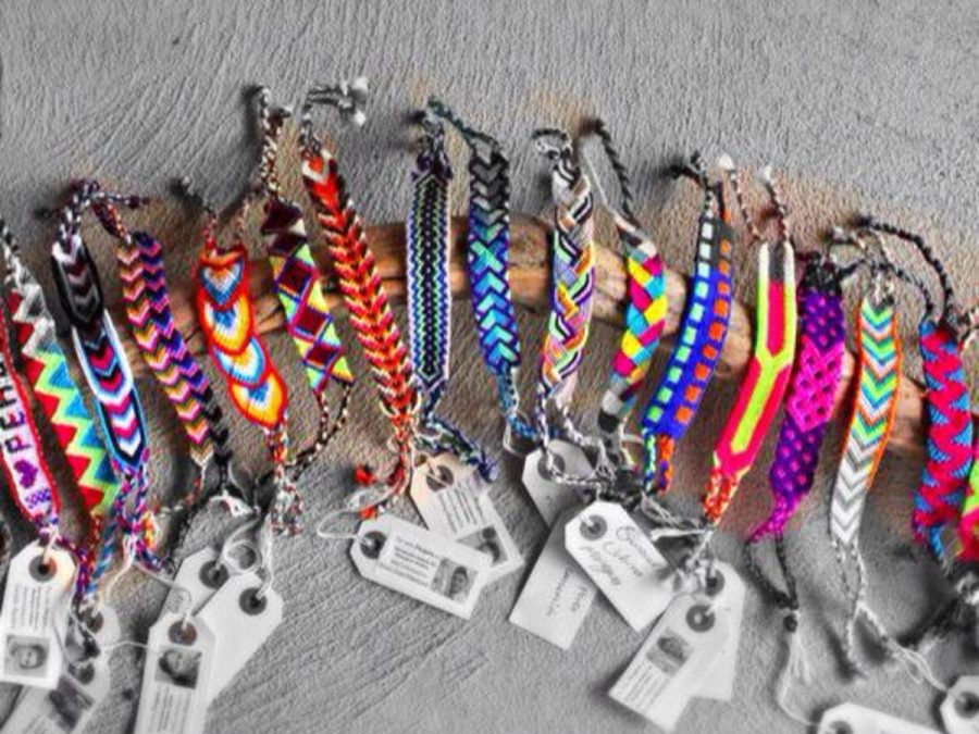 Pulseras, spanish for bracelets, are being sold during lunch for $5. The Pulsera Project was created to help create jobs and improve education in Nicaragua.