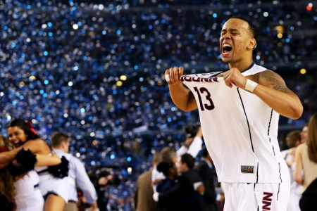Shabazz Napier was named the Final Fours most outstanding player. He is in his last year at UConn and averaged 18 points, six rebounds and five assists this season. He led UConn to its fourth national championship and first since 2011 PC: Josh Patterson