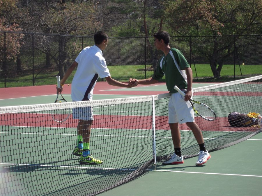 The team always demonstrates good sportsmanship after winning or losing a match.