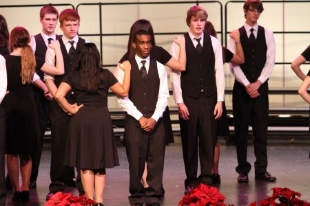 """A majority of the Select choir members are seniors. Next year the Select Ensemble will have a new variety of voices. Select sang """"Five Hebrew Love Songs"""" for the Spring Concert. Photo Courtesy of: McDaniel's Photography"""