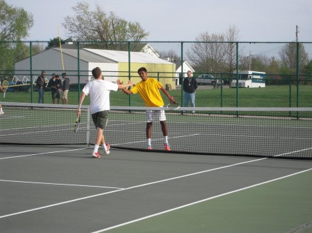 Nakul Narendran,12 got to the finals of the Second Singles bracket, which helped the team tie for first place. Photo courtesy of Joe and Linda Stern.