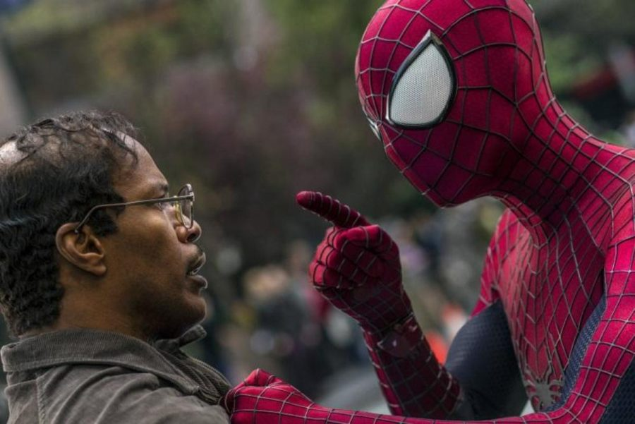 """""""The Amazing Spider-Man 2"""" is a reboot of the original Toby Maguire trilogy. The film stars Andrew Garfield, Emma Stone, Jamie Fox, and Sally Fields. The movie is in theaters now. Photo courtesy of MCT Photo."""