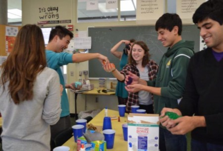 Alexis Corcoran, 12, participates in a Biology Club meeting earlier this year. This interest in the sciences has motivated her to intern at the EPA over the summer. There, she will be doing field work and participating in government laboratories. Photo Courtesy of Alexis Corcoran.
