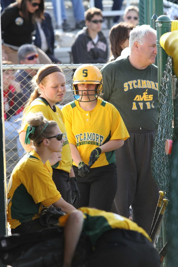 The girls have struggled with their hitting all year. The softball team's defense has been strong, but what has hurt them all year is hitting. Getting more hits will help the girls win in their upcoming games. Photo courtesy of McDaniel's photography.