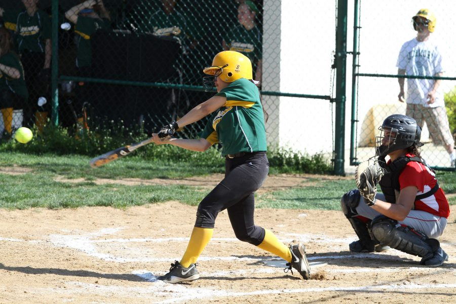 Batting continues to be a problem for the SHS team. They have sold defense and are able to keep the other team from scoring much. But batting needs to improve. Photo courtesy of McDaniel's photography.