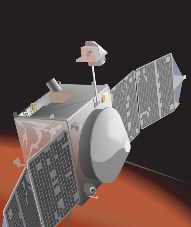 NASA%27s+MAVEN+spacecraft+finally+arrived+at+Mars.+It+hopes+to+perform+more+atmospheric+studies+rather+than+stay+the+course+of+other+studies+in+the+past.+
