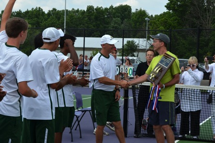 One of the reasons why the boys tennis team was able to claim a State title in 2014 was due to the hard work they put in during the offseason. Coach Mike Teets has been holding before school conditioning sessions since his first year as head coach. The team will begin their quest to repeat as state champions in March 2015.