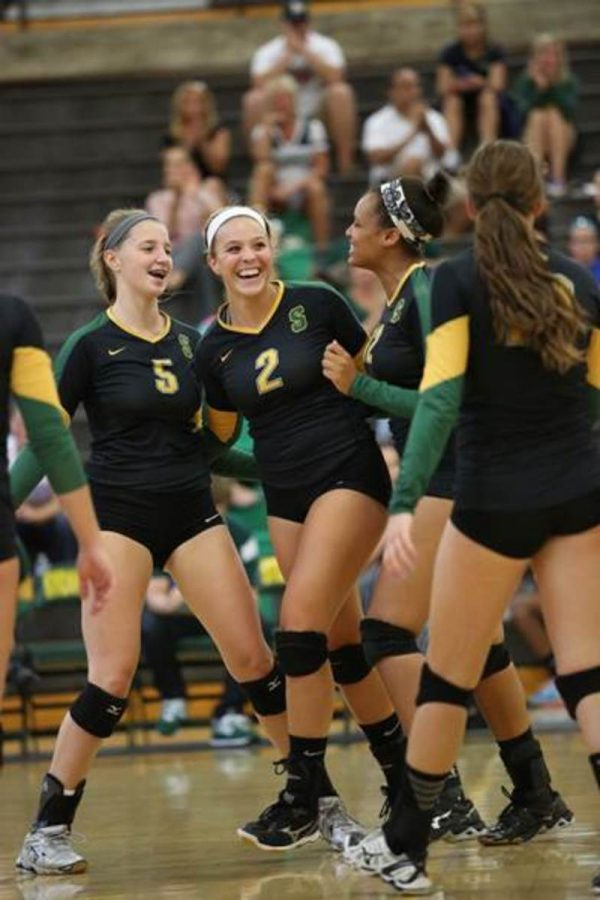 Girls+volleyball+had+senior+night+last+night.+The+turnout+was+astounding%2C+even+the+junior+high+volleyball+teams+came+to+cheer+the+girls+on.+Both+JV+and+Varsity+ended+up+winning+against+Mcauley.