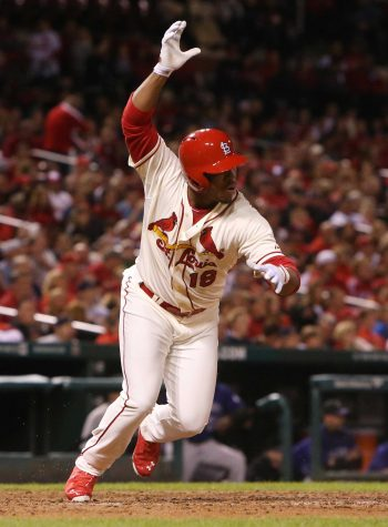 Oscar Taveras hit his first postseason off of San Francisco Giants pitcher Jean Machi, in game two of the NLDS. He tied the game at 3-3 and the Cardinals won the game. Unfortunately that was the only game they won in the series. This was his finale at bat in the MLB. PC: MCT Photo