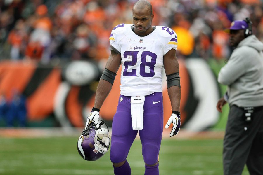 Adrian+Peterson+is+one+of+the+NFL%E2%80%99s+most+prolific+running+backs.+He+came+back+from+a+torn+ACL+in+the+2012-13+season+to+come+8+yards+short+of+the+all-time+single+season+rushing+record.+His+2014+season+is+most+likely+over+due+to+the+fact+that+his+first+court+date+is+set+in+2015.+PC%3A+MCT+Photo