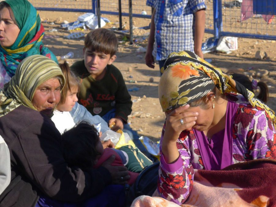 Kurdish refugees flee their homes in Turkey due to an ISIS invasion. The radical Islamic State seeks to destroy those who do not conform to their ideals. Along with refugees, both Kurds and other people have been brutally beheaded.